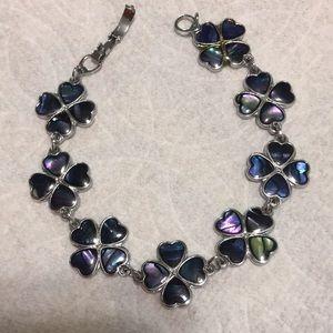 Vintage four leaf clover enamel bracelet